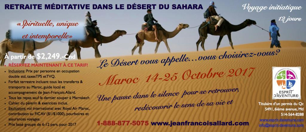RETRAITE & PÈLERINAGE DANS LE DÉSERT DU SAHARA AU MAROC