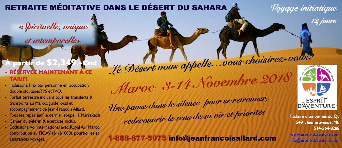 voyage maroc novembre 2018