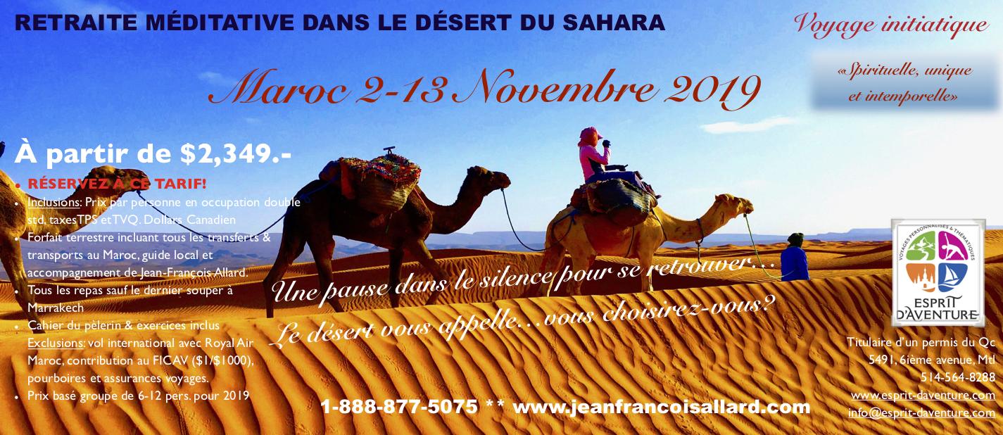 pèlerinage marche désert Sahara Maroc