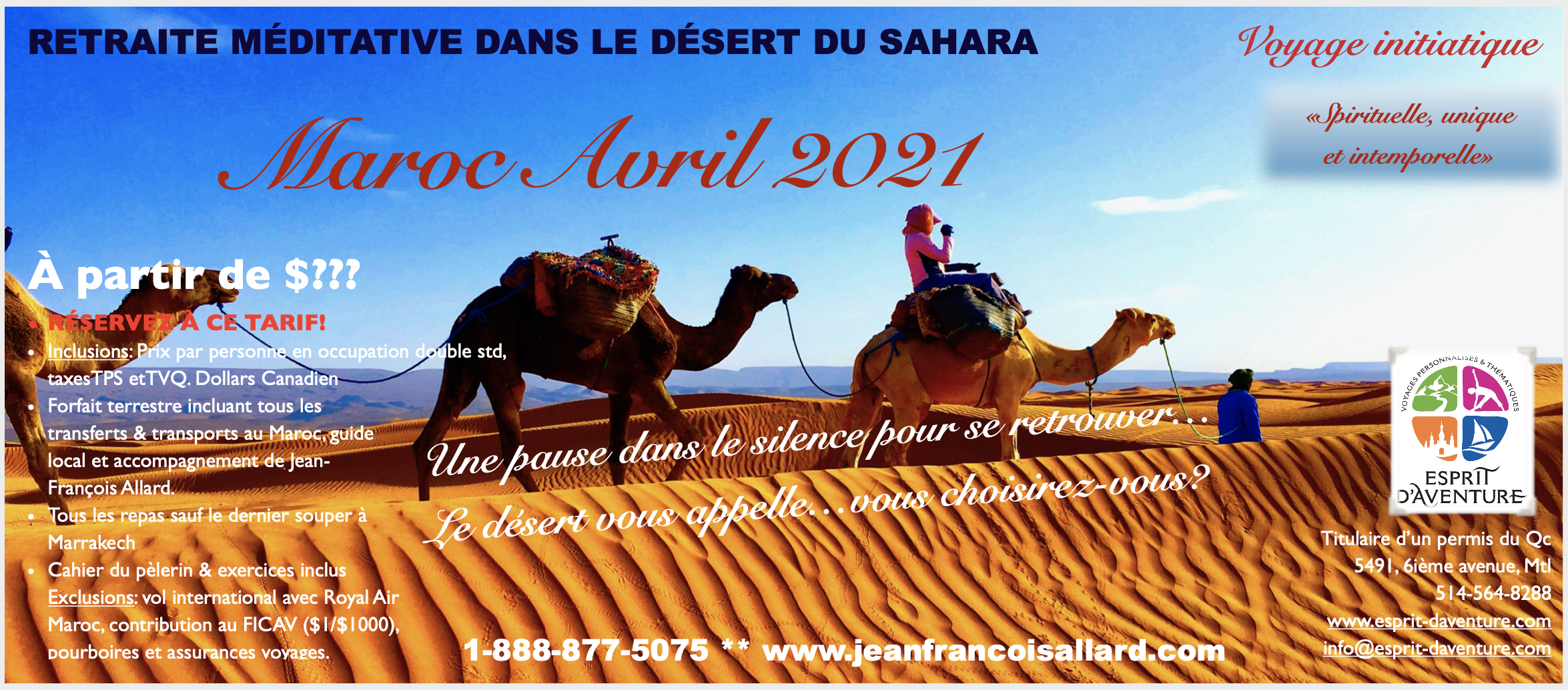 Pèlerinage et Marche méditative dans le Sahara